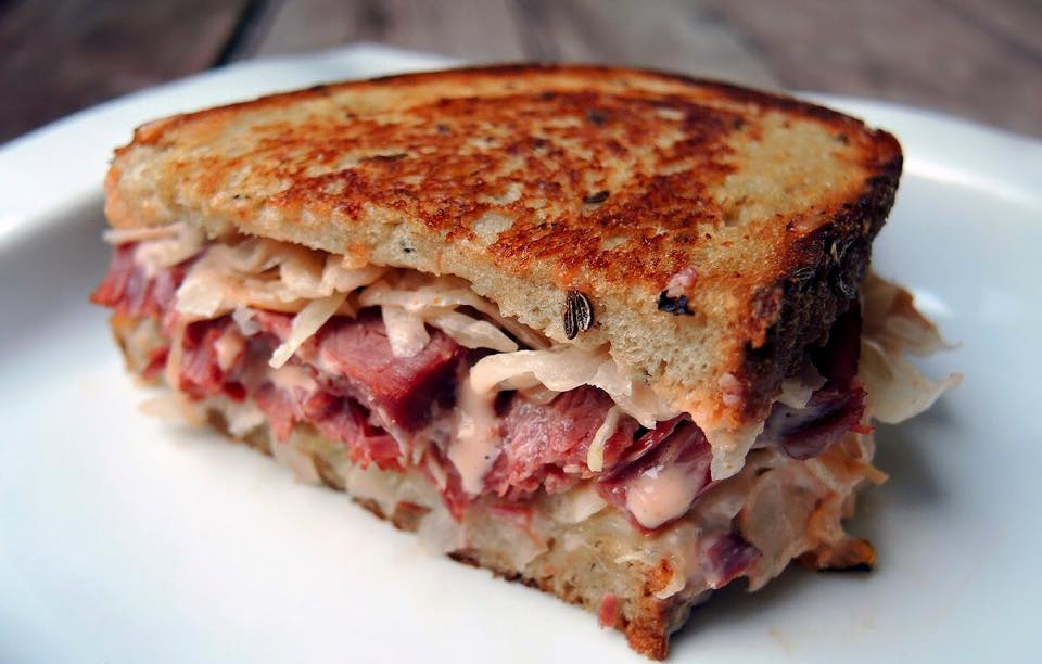 Grilled Corn Beef on Rye