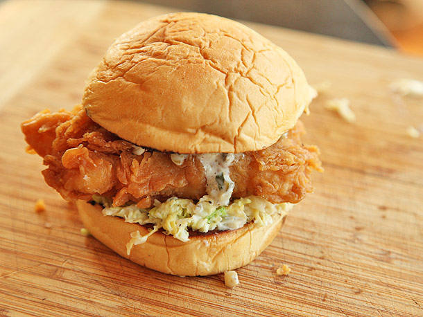 Beer Battered Sole Sandwich